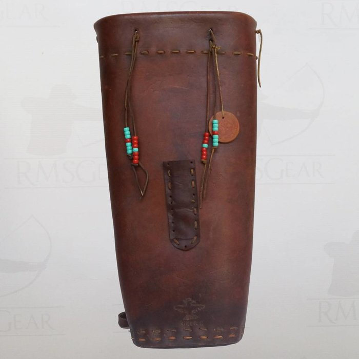 Used - Brown Leather Backquiver - Q3KN