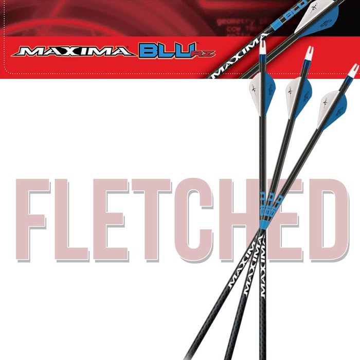 Carbon Express Maxima Blu Fletched Arrows