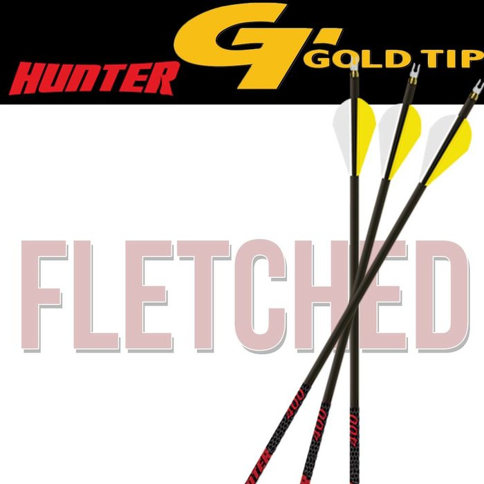 Gold Tip Hunter Fletched Arrows