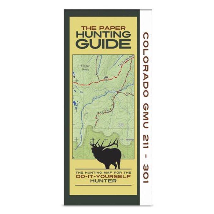 DIY Hunting Map - Colorado GMU's 211-301
