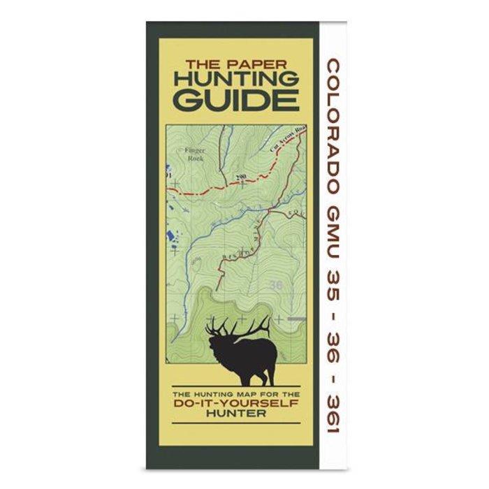 DIY Hunting Map - Colorado GMU's 35-36-361