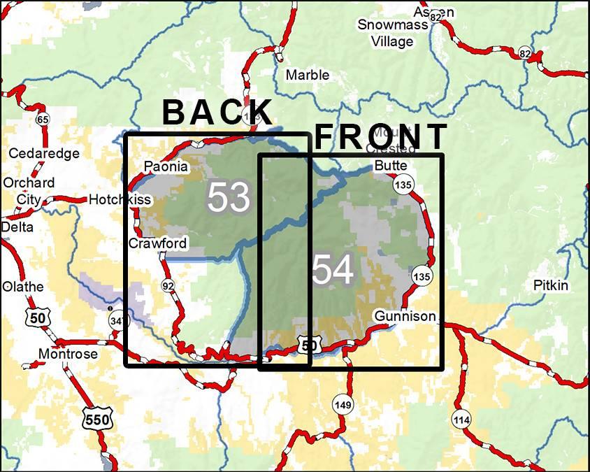 DIY Hunting Maps - Colorado GMU\'s 53-54 - RMSGear