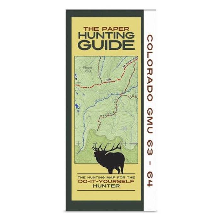 DIY Hunting Map - Colorado GMU's 63-64