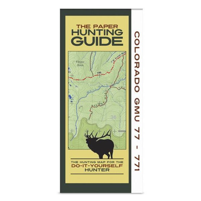 DIY Hunting Map - Colorado GMU's 77, 771