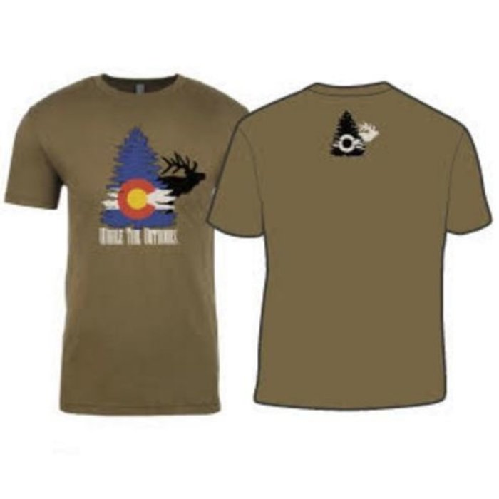 Whale Tail Outdoors T-Shirt  - Forest Green