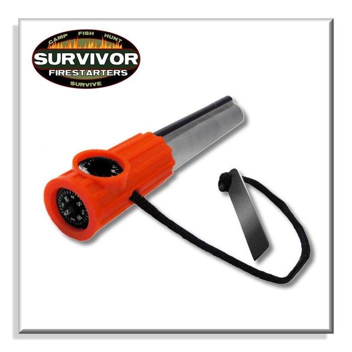 Survivor Fire Starter Black/Orange Handle