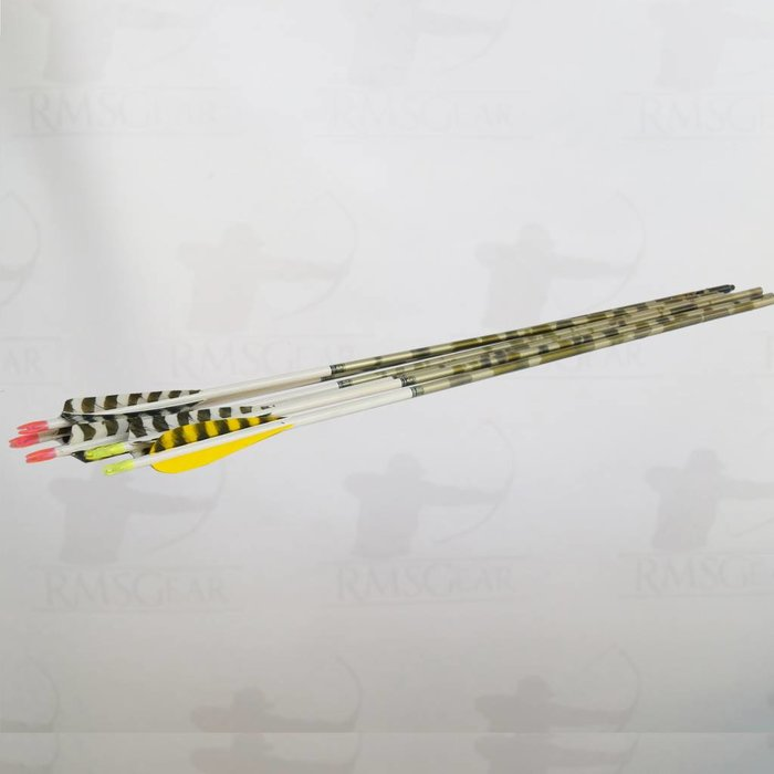 "Used - 28 1/2"" Aluminum Green Camo Fletched Arrows - USED28GCAMO"