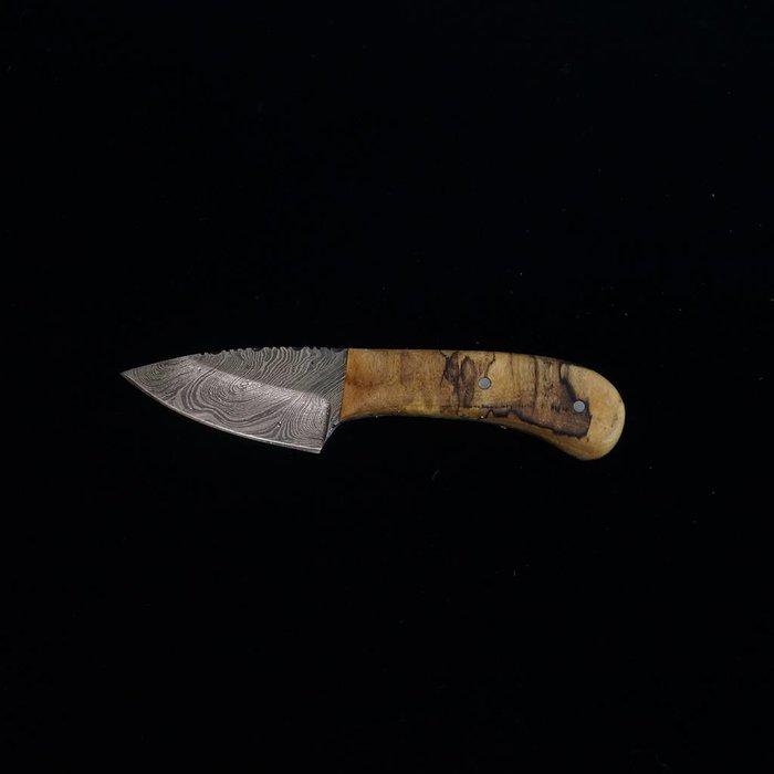 Wolf Track Custom Damascus Knife - WT47DG