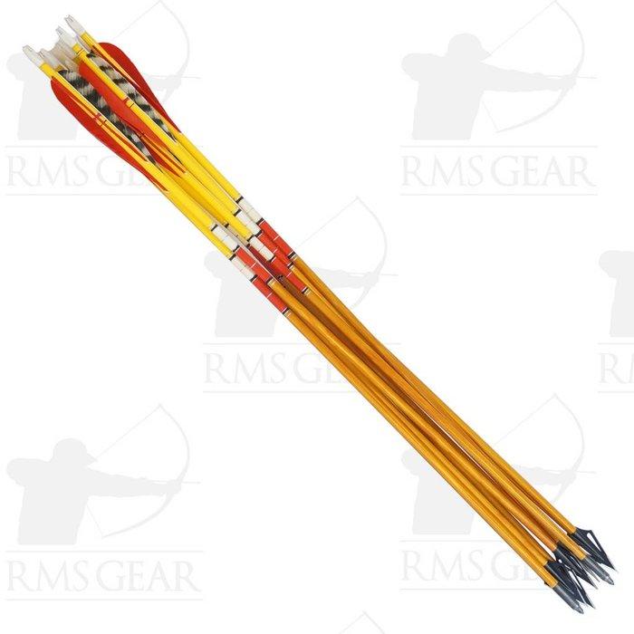 """Used – 27 ½"""", 50# Fletched Wood Arrows – USED19HI"""