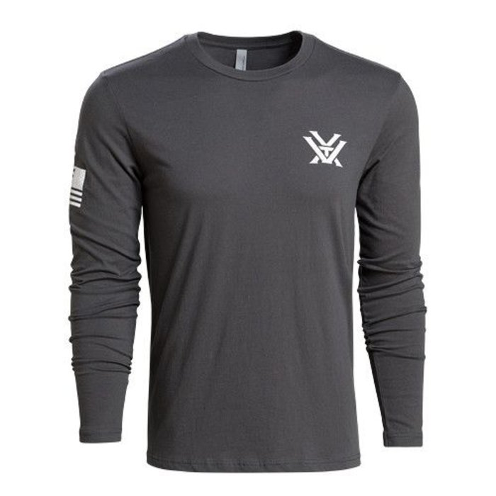 Vortex Grey Patriot Long Sleeve Shirt