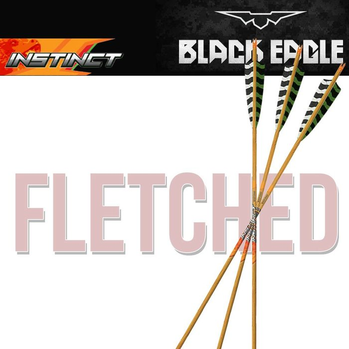 Black Eagle Instinct Traditional Fletched Arrows