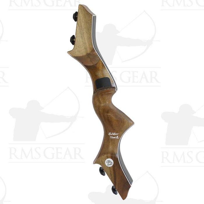 """Hawk Riser - 17"""" RH OD Mora Wood - 0387"""