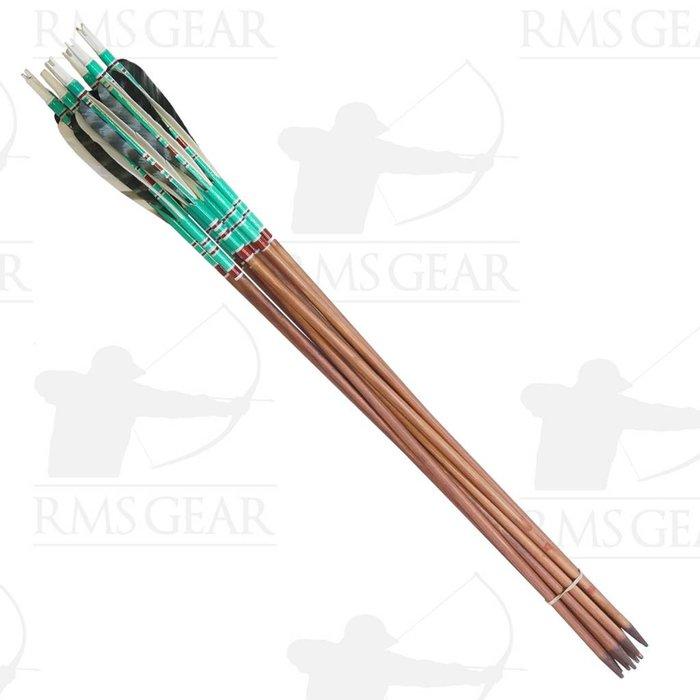 "Used - 27 1/2"", 71# Fletched Wood Arrows - USED10PI"