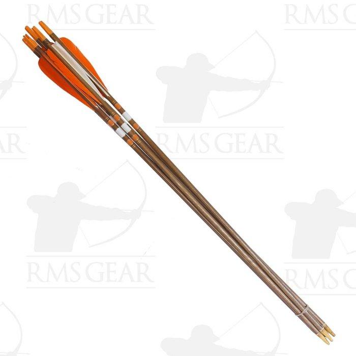 "Used - 27"", 68# Fletched Wood Arrows - USED12PI"