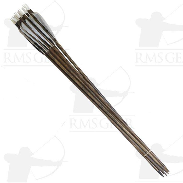 "Used - 27 1/2"", 64# Fletched Wood Arrows - USED15PI"