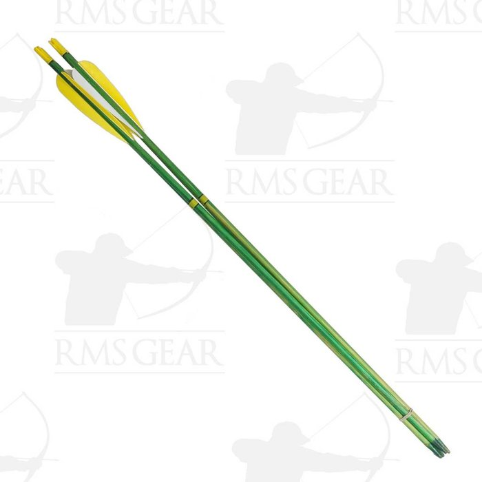 "Used - 27 1/2"", 71# Fletched Wood Arrows - USED16PI"