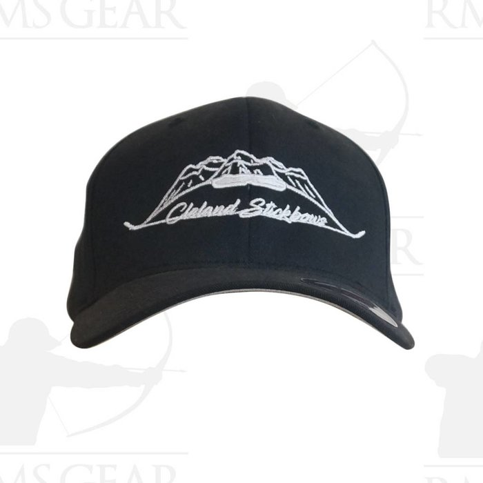 Cleland Stickbow Black Flex Fit Hat