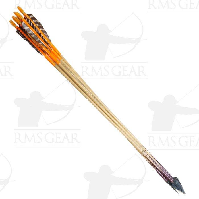 """Used - 29 3/4"""", 68# Purple Heart Footed Wood Arrows - USED43HI"""