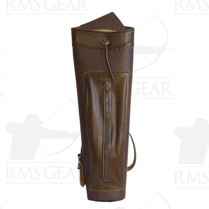 Used - Brown Leather Back Quiver - USEDQ2MC