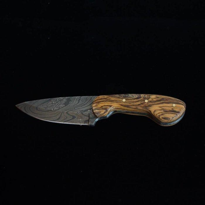 Wolf Track Custom Damascus Knife - WT133DG