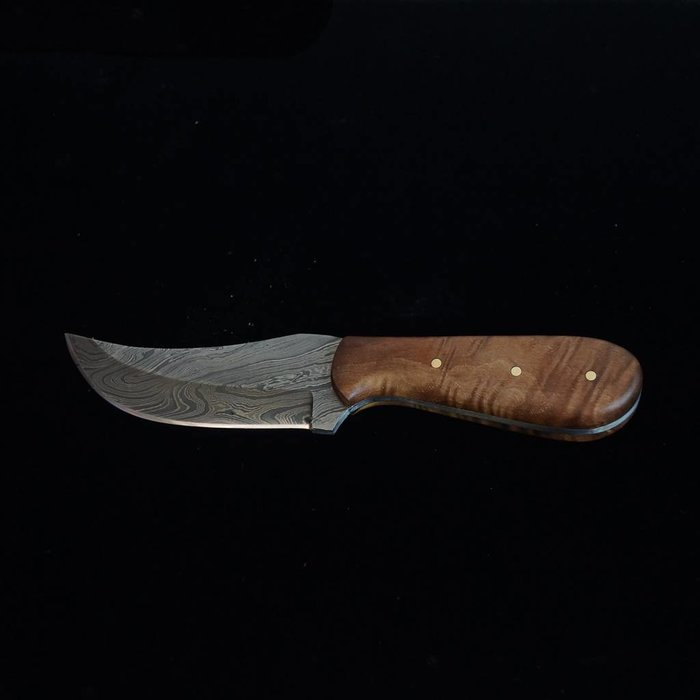 Wolf Track Custom Damascus Knife - WT134DG