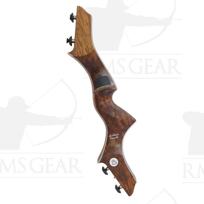 """Hawk Riser - 17"""" RH OD Tigerwood - 0397"""