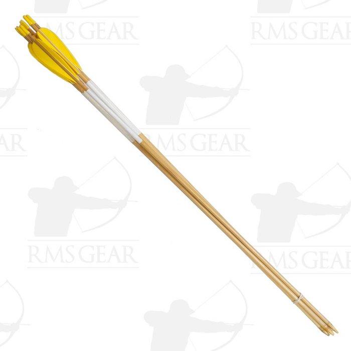 """Used - 28 3/4"""", 38# Fletched Wood Arrows - USED2ST"""