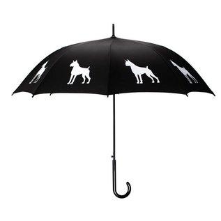 San Francisco Umbrella Animal Umbrella - Boxer Umbrella Blk/White