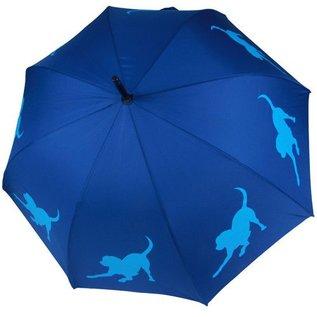 San Francisco Umbrella Animal Umbrella - Labrador Retriever - Blue/Lt Blue