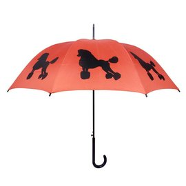 San Francisco Umbrella Poodle Umbrella - Orange/Blk