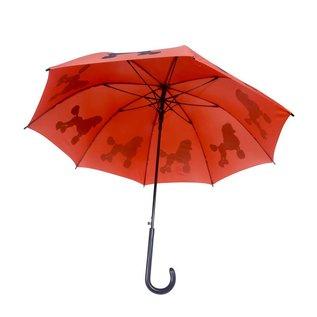 San Francisco Umbrella Animal Umbrella - Poodle Umbrella - Orange/Blk
