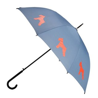San Francisco Umbrella Animal Umbrella - Schnauzer - Blue/Red