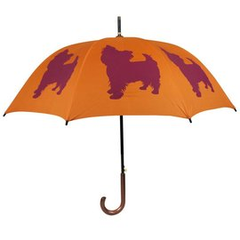 San Francisco Umbrella Yorkshire Terrier - Orange/Red