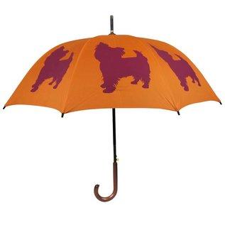 San Francisco Umbrella Animal Umbrella - Yorkshire Terrier - Orange/Red - Out of Stock