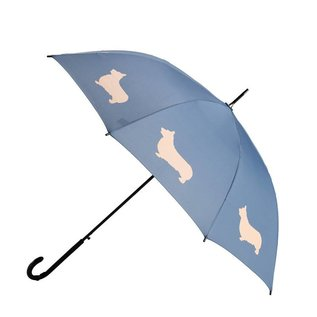 San Francisco Umbrella Animal Umbrella - Welsh Corgi - Blue/Tan