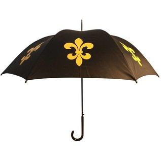 San Francisco Umbrella Animal Umbrella - Fleur de Lys - Blk/Gold