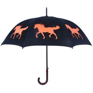San Francisco Umbrella Animal Umbrella - Horse - Blk/Orange