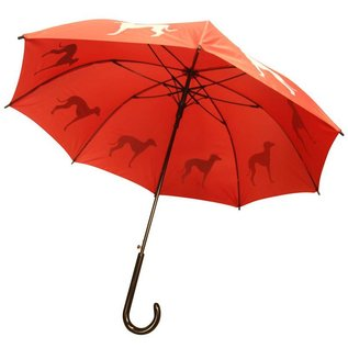 San Francisco Umbrella Animal Umbrella - Greyhound - Red/Tan