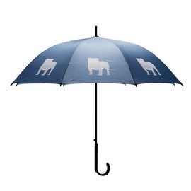 San Francisco Umbrella English Bulldog - Dk Blue/WHT