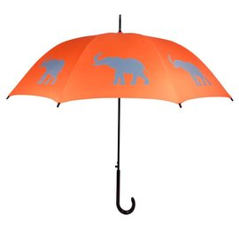 San Francisco Umbrella Elephant - Orange/Gray