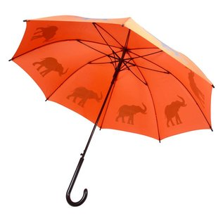 San Francisco Umbrella Elephant - Orange/Gray