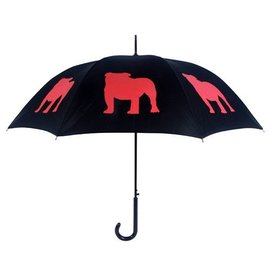 San Francisco Umbrella English Bulldog - Blk/Red