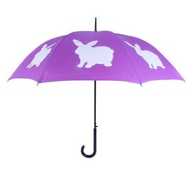 San Francisco Umbrella Rabbit - Purple/White