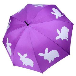 San Francisco Umbrella Animal Umbrella - Rabbit - Purple/White