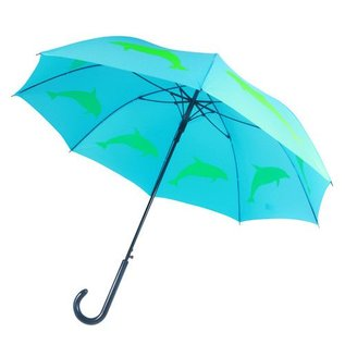 San Francisco Umbrella Animal Umbrella - Dolphin - Lt Blue/Green