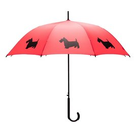 San Francisco Umbrella Scottish Terrier - Red/Blk