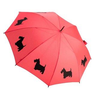 San Francisco Umbrella Animal Umbrella - Scottish Terrier - Red/Blk