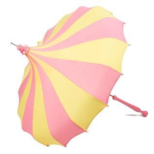 Bella Umbrella Signature Bella Custom Pinwheel Pink & Yellow