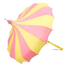 Bella Umbrella Signature Bella Custom Pinwheel Pink & Yellow