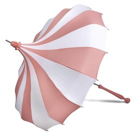 Bella Umbrella Signature Bella Custom Pinwheel White & Pink